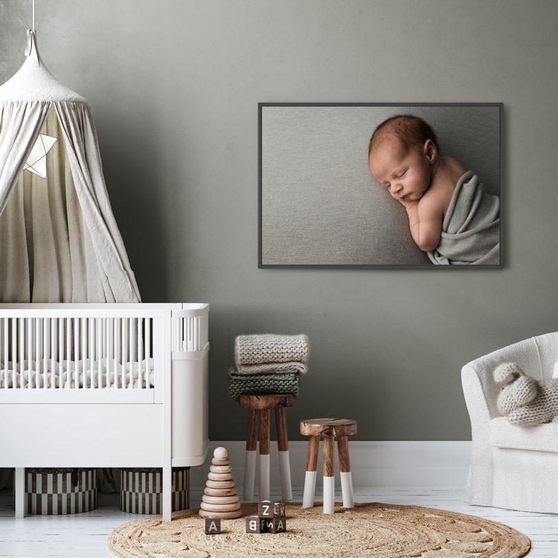 newbort foto babykamer